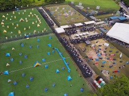 Red Dynasty Paintball Park - Bukit Timah, Turf City – Aerial Shot