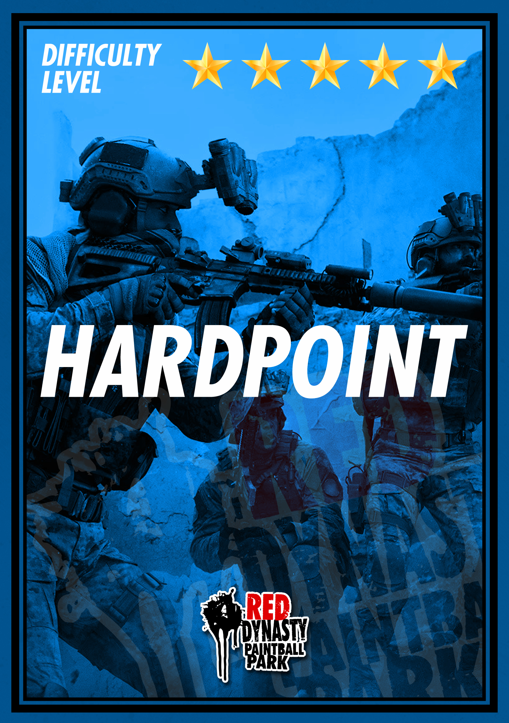 "Teams must rush to secure their own strategic key location called ""Hardpoint"" and at the same time prevent their enemy from securing theirs. When only 1 Hard Point is being occupied the timer starts. The team that occupies their Hard Point the longest or a maximum stated time will win the game."