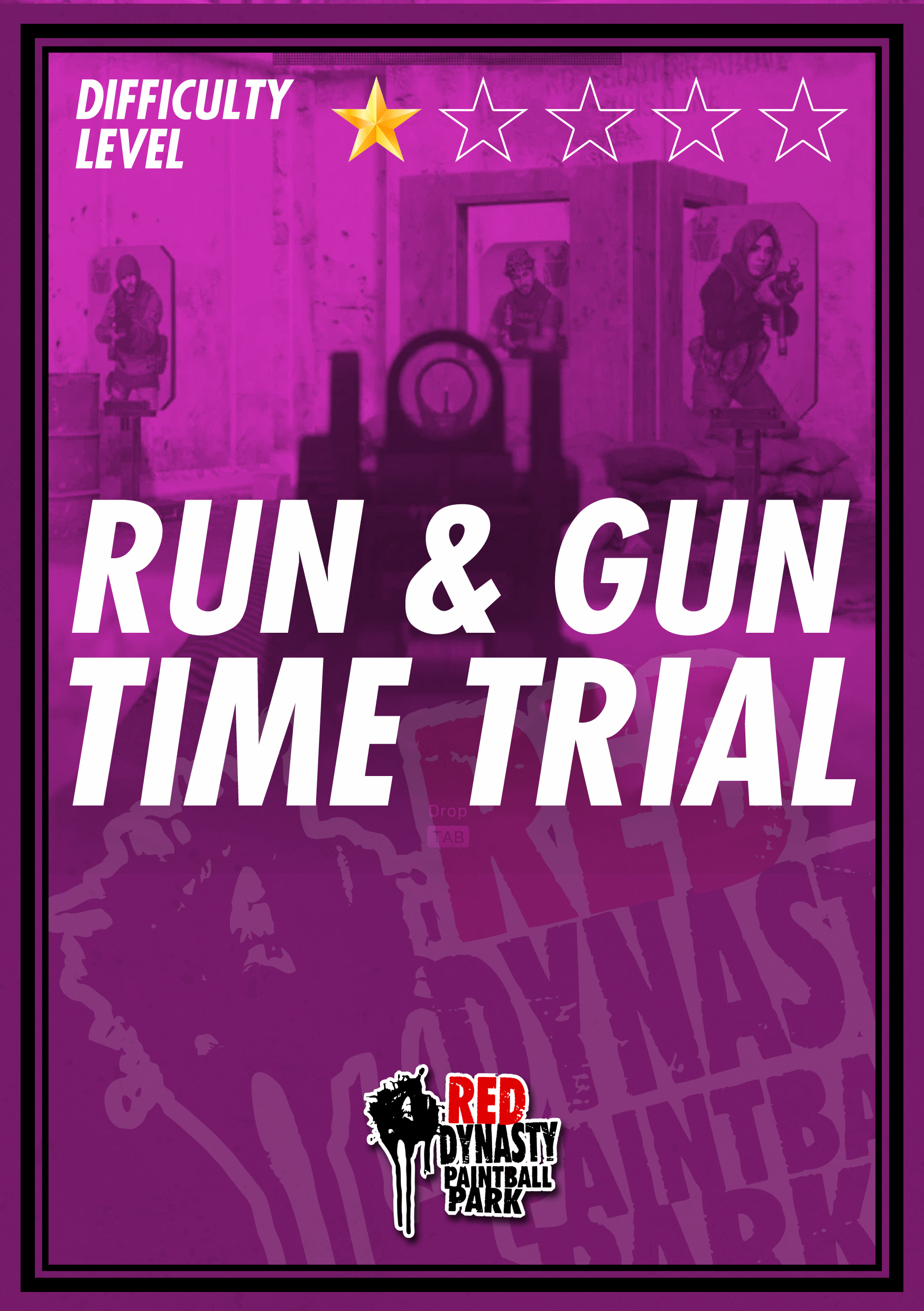 Hone your skills or compete to see who can finish the time trial the fastest. Multiple targets will be set up and a predefined route will be carved through the battlefield. Gun handling techniques will be tested. For example shooting from different positions, shooting with different hands, accuracy, agility, reflexes and more.